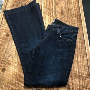 Hudson Wide Leg Dark Jeans Women's 28/8 EUC